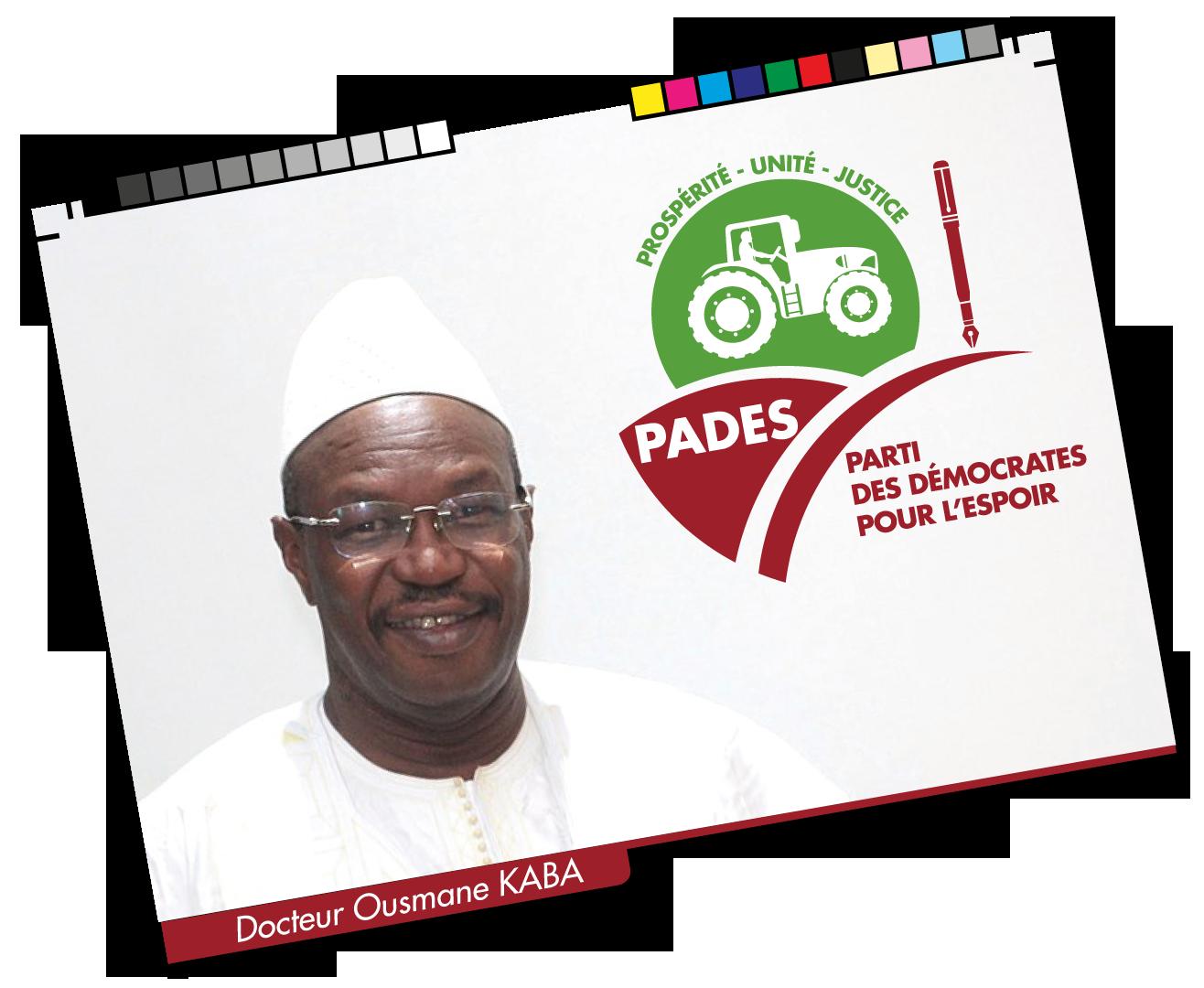 Illustration Dr. Ousmane KABA, Président du PADES