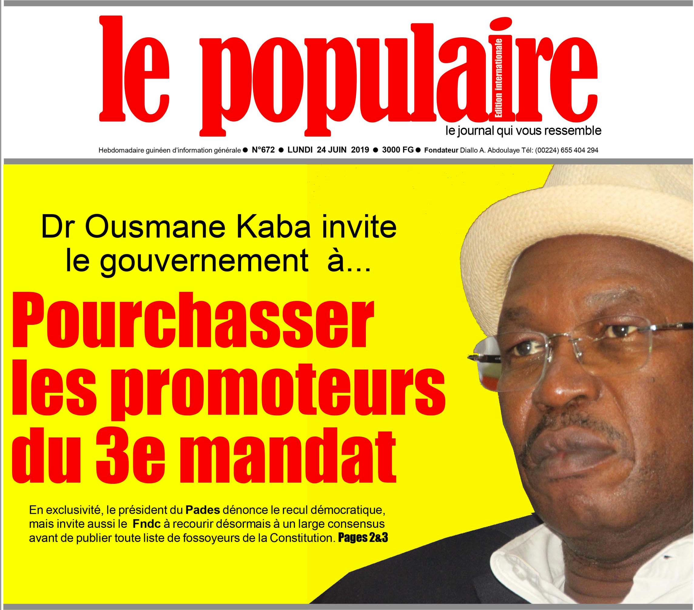 Le Populaire, le journal qui vous ressemble - Interview du Dr. Ousmane KABA